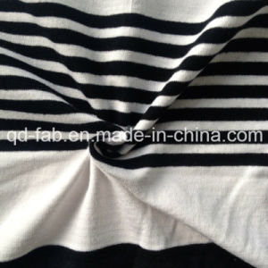 Cotton/Spandex Yarn Dyed Stripe Jersey Fabric (QF13-0660) pictures & photos