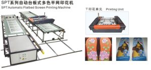 Newest Manuafacture Supplying Spt Automatic Slipper/PU Leather/T Shirt/ EVA/Bag/Shoes Upper Screen Printer/ Screen Printing Machine pictures & photos