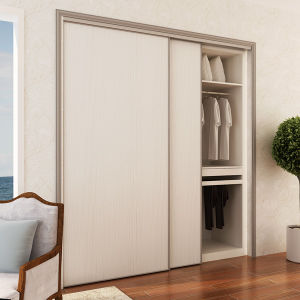 Oppein Project Modern Wood Grain Melamine Sliding Wardrobe (YG15-M03) pictures & photos