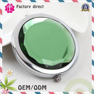 Rhinestone Crystal Design Customer Logo Iron Pocket Make up Mirror pictures & photos