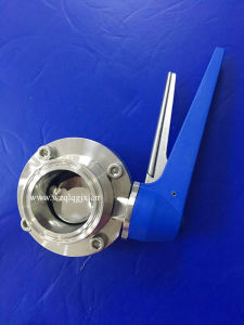 Stainless Steel Sanitary Plastic Handle Clamped Butterfly Valve pictures & photos