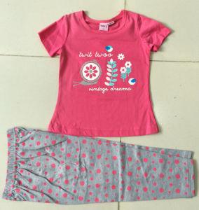 Summer Baby Girl Pyjamas Children′s Suit in Kids Wear Bb-401 pictures & photos