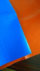Blue/Orange Protective Poly Tarp, Truck Cover Lona Tarpaulin pictures & photos