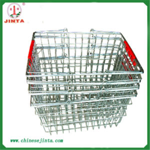 Factory Direct Zinc Plated Wire Shopping Basket (JT-G27) pictures & photos