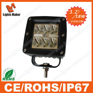Hot Selling Item 18W CREE Chips LED Lamps for Auto Vehicles 4X4 Offroad Driving LED Lights for Jeep Trucks 7 Colors Cover Choose