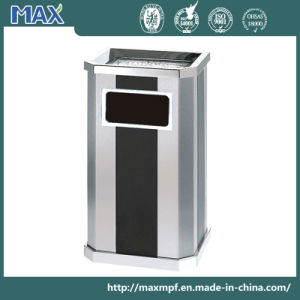 Stainless Steel Office Trash Bin with Ashtray pictures & photos