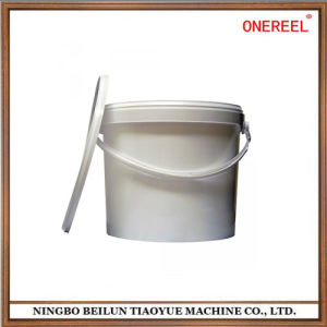 Good Quality Round White Plastic Bucket with Lid pictures & photos