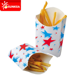 Custom Printed Hot Chip Cups / Folding Paper French Fires Box pictures & photos