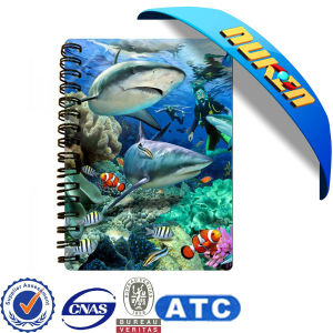 Factory High Quality 3D Notebook with PP Material pictures & photos