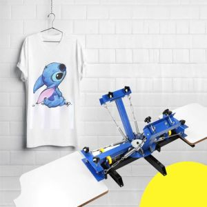 Four Color Two Station Screen Printing Machine for Tshirt
