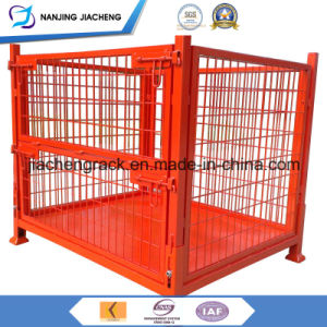 Collapsible and Foldable Metal Steel Wire Mesh Pallet Cage pictures & photos