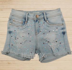 Wholesale China High Quality Fashion Denim Ladies Short Jeans Pant Hdlj0059 pictures & photos