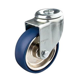 5inches Medium Duty Swivel Caster with PU Wheel (iron core, hollow rivet) pictures & photos