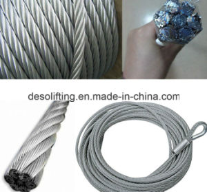 PVC Coated Steel Wire Rope 6*7/7*7 pictures & photos