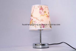 Simple Table Lamp with PVC Lampshade pictures & photos