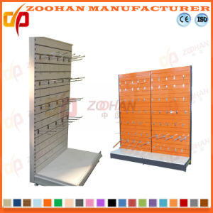 Customized Aluminium Alloy Groove Supermarket Convenience Wall Shelving Shelf (Zhs600) pictures & photos