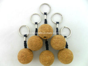 Custom Round Cork Wood Keychain pictures & photos