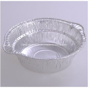 Round Aluminum Foil Container with Lid pictures & photos