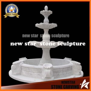 White Cararra Marble Stone Carving Hotsale Fountain (NS-1151) pictures & photos