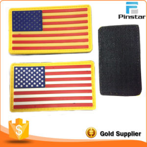 Pinstar Factory Wholesale Cheap Price Actical Morale Military America Flag PVC Patch pictures & photos