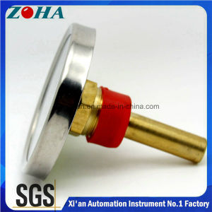 Steel Case Brass Stem Back Connection Bi-Metal Thermometer pictures & photos