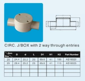20mm 25mm Two Way Shallow J/B UPVC Pipe Fitting pictures & photos