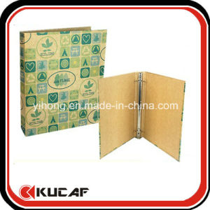 Custom Stationery Suppler A4 Recycle Kraft Paper 3 Ring Binder pictures & photos