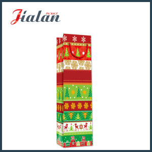 Glossy Laminated Art Paper Christmas Bottle Shopping Gift Paper Bag pictures & photos