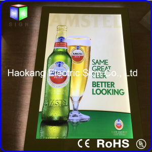 Frameless Magnetic Beer Sign Advertising Display with Acrylic Sheet Crystal Light Box pictures & photos