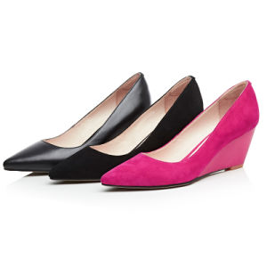 High Wedge-Soled Heel Sharp Toe Sexy Women Dress Shoes