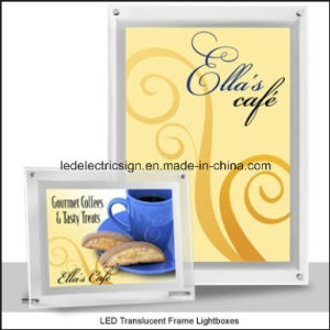 Coffee Advertising LED Ultrathin Crystal Light Box pictures & photos