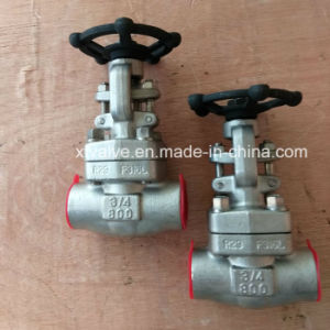 API6d Forged Stainless Steel F304 F304L Thread End Gate Valve pictures & photos