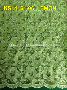 Hot Sale New Sample Fujian Factory Pink Swiss Voile Lace Type Thailand Cord Lace Fabric pictures & photos