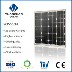 High Efficiency Mono Solar Cell 50W Solar Panel (50W-M) pictures & photos