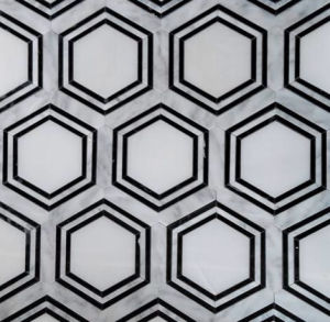 Water Jet Marble Tile Hexagonal pictures & photos