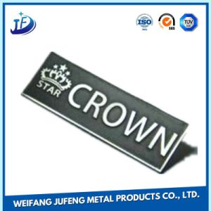 OEM Precision Metal Fabrication Steel Turning Stamping Markplate/Metal Tag/Name Plate pictures & photos