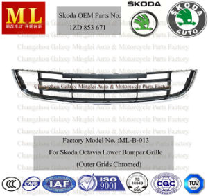Auto Grille, Lower Front Bumper for Skoda Octavia Car From 2008-2ND Generation (OEM parts No.: 1ZD 853 671) pictures & photos