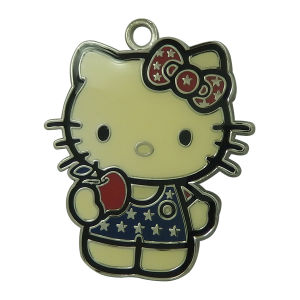 Custom Stamped Round Kitty Cat Metal Hang Tags pictures & photos
