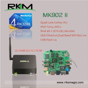 Rikomagic Quad Core A17 Android4.4 Mini PC with 2g RAM 8g/16g ROM (MK902II) pictures & photos