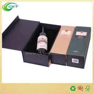 Custom Made Clear Single/2 Bottles/3 Bottles6 Bottle/12 Bottle Wine Glass Packing Cardboard Box (CKT-PB-007)