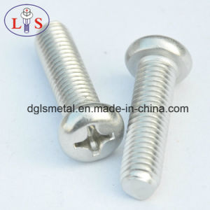 Ss304 Truss Head Bolt with Nylok Pan Head Machine Screw pictures & photos