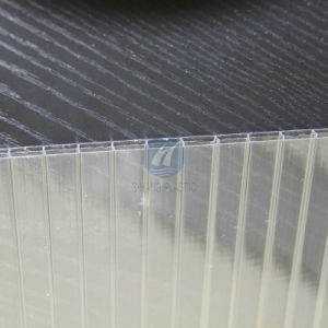 Transparent Triple Wall Polycarbonate Hollow Sheet for Roofing pictures & photos