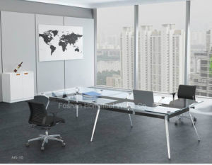 Popular Tempered Glass Top Conference Table (HF-YZ009) pictures & photos