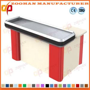 Supermarket Store Electric Cashier Checkout Counter with Conveyor Belt (Zhc13) pictures & photos