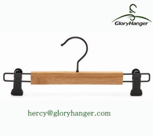 Bamboo Hanger for Trouser Display, Trouser Hanger with Clips pictures & photos