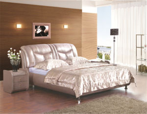 Modern Leather Bedroom Furniture pictures & photos