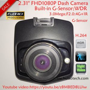 "Cheap 2.31"" Full HD1080p 3.0mega Car Camera with G-Sensor, Night Vision, WDR, Cycle Recording Dvrs-2402 pictures & photos"