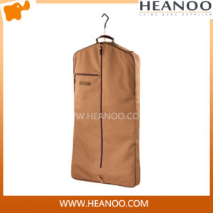 Wholesale Cotton Fabric Cloth Garment Bag for Suit with Hanger pictures & photos