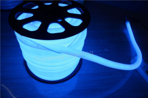 Waterproof IP67 Round Flexible Neon Strip 25mm Dia Blue