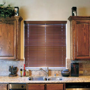 50mm Solid Wood Blinds with Ladder String Wand Tilt Wood Slat pictures & photos